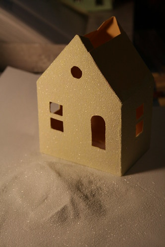 glitter gives the house texture as well as sparkle