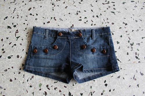 demin short shorts