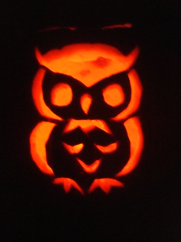 our carved owl