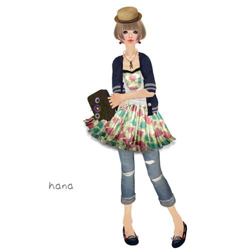 #HW<Pop Textile OP(Flower)>