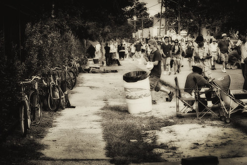 Jazzfest street scene. New Orleans, LA