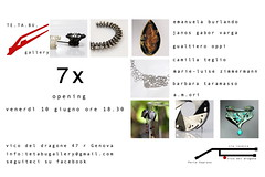 exhibition in Genova at the TeTaBu Gallery! (Blind Spot Jewellery) Tags: mostra iron blind contemporary jewelry spot exhibition ring jewellery jewel blindspot blindspotjewellery tetabugallery