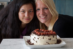Schwarzwlder Kirschtorte 4 (flygrl67) Tags: girls friends portrait black cake forest dessert baking cherries faces chocolate shaved butter german frosting baked schwarzwlder kirschtorte