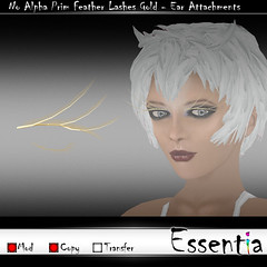 Essentia No Alpha Prim Feather Lashes Gold