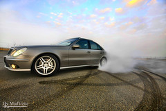 moment of madness (MadVette) Tags: auto longexposure sky motion 2004 car clouds photography mercedes benz slow automotive motors madness mercedesbenz motor kuwait burnout moment mad  v8 e55 amg drift q8 kompressor kuw w211 klouds driftng   madvette madbenz