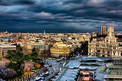Madrid - HDR (Ender079) Tags: madrid sky espaa skyline clouds grey gris raw banco explore cielo nubes castellana hdr cibeles correos alcal tamronspaf2875mmf28xrdildasphericalifmacro canoneos450d 1510115
