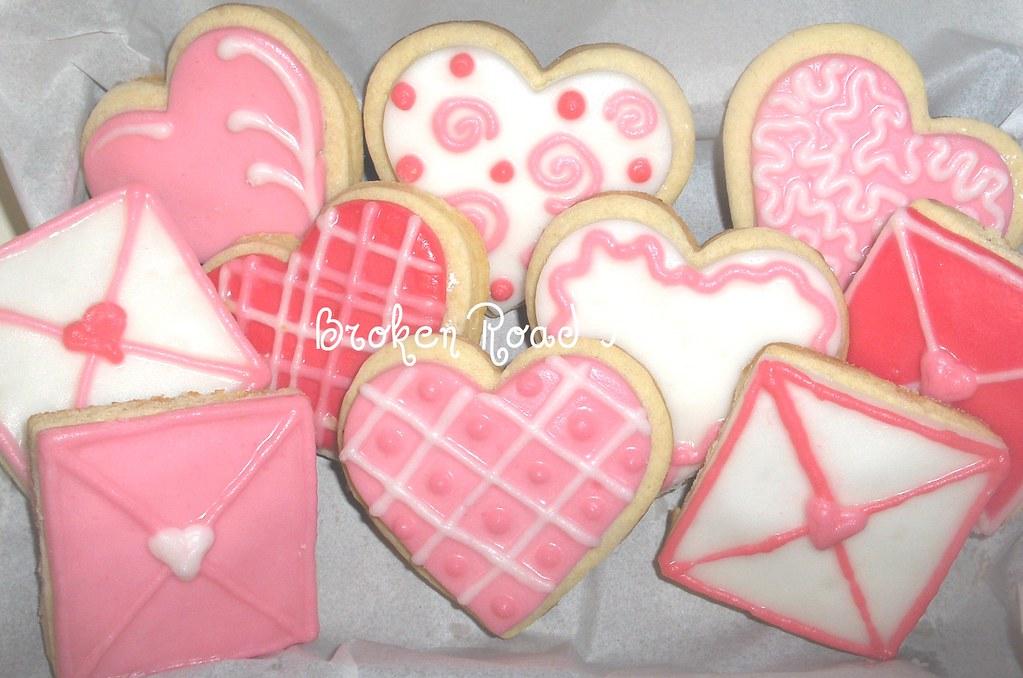 Valentine Heart & Envelope cookies