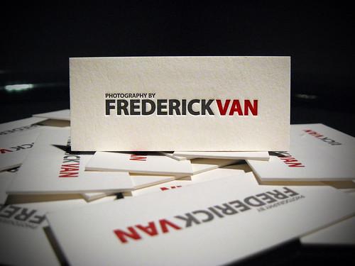 Frederick Van Letterpress Business Cards