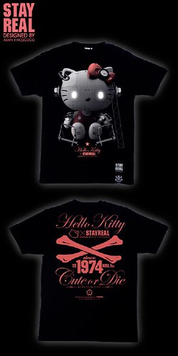 stay real KITTY T-shirt (black)