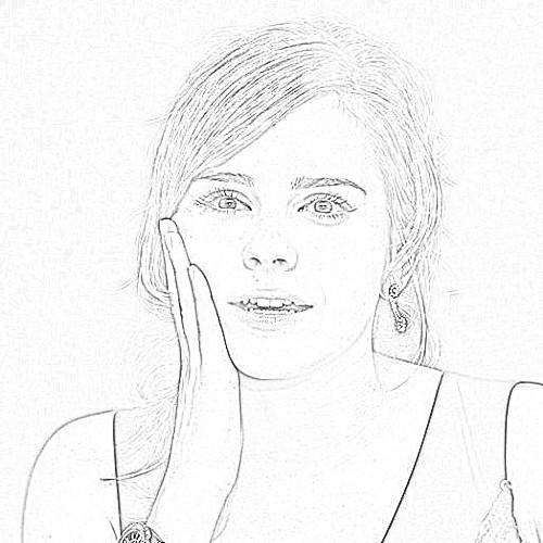 emma watson fakes drawing