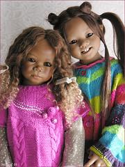 Bunda and Natiti (MiriamBJDolls) Tags: 2005 doll group vinyl limitededition bunda annettehimstedt himstedtkinder natiti