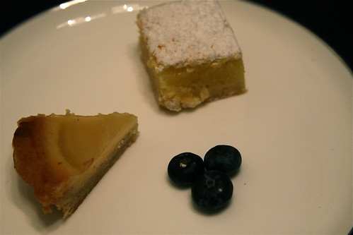 Pear Tart and Lemon Bar