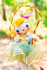 Jump Rope Jill (ggmossgirl) Tags: cute japan vintage pose doll small cloth jumprope shop66 shop66dollday