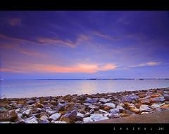 Port Klang 03 (SHAZRAL) Tags: sea seascape beach port canon landscape eos filter malaysia klang pantai selangor cokin tokina1224mmf4 450d gnd8 azralfikri shazral