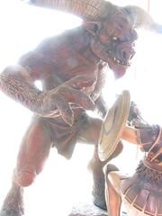 Thse vs Minotaure (Alexandre Kundun) Tags: collection greece sculture grec mythologie minotaure thse figruine