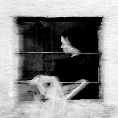 Time hangs heavy, or Penelope's web - Il tempo non passa mai, ovvero La tela di Penelope (sarak hellas) Tags: life friends portrait people bw blur window contrast square lights waiting penelope finestra sguardo wait conceptual odyssey ritratto mythology ulysses quadrato attesa mosso concettuale ulisse contrasto grata mitologia sarak odissea nikond80 sarakhellas penelopesweb lateladipenelope