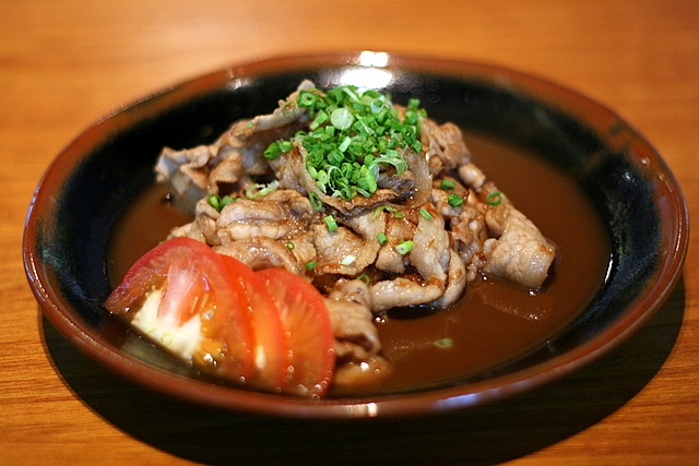 Buta Shogayaki - Pan-fried Sliced Pork with Ginger Sauce
