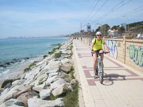 The bike way between Barcelona and Mataro