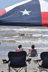 Galveston (Texas.713) Tags: girls summer vacation sun beach gulfofmexico water fun awning sand nikon waves texas flag 09 after ike bathing 4thofjuly galvestonisland texasflag d90 karankawa