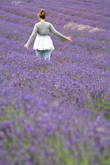 Girl in a lavender field (Peter Denton) Tags: uk england woman nature girl field lavender eu surrey mauve tutu fragrance banstead lifeisart backsight canoneos400d peterdenton