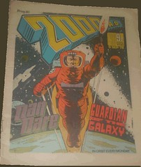2000AD Prog 81 - Dan Dare, Guardian of the Galaxy. Art Dave Gibbons (flickr)