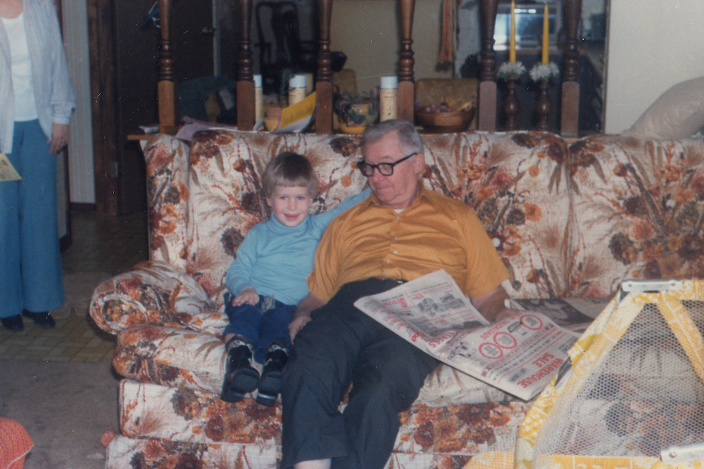 With Grandpa on the Couch - 1980?