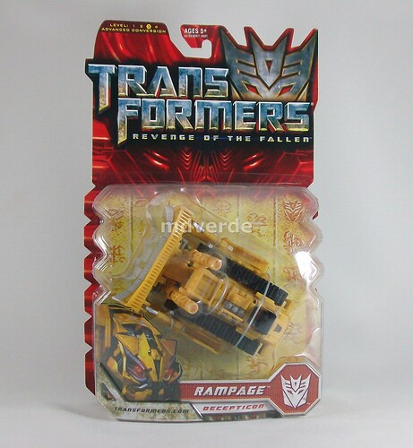 Transformers Rampage RotF Deluxe - caja