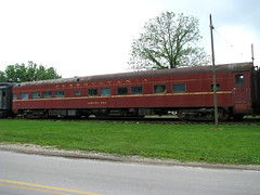 ex Pennsylvania Railroad Observation Car (bluerim) Tags: railroad museum indiana streamlined frenchlick passengercar pennsylvaniarailroad observationcar broadwaylimited samuelrea indianarailwaymuseum
