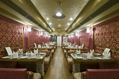 Train Chartering - Royal Rajasthan on Wheels, India's new luxury train, Restro Lounge Swarn Mahal