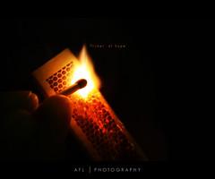 flicker of hope (alvin lamucho ) Tags: light fire hope flickr sparkle flame match flicker matchstikcs flickerofhopestrike alvinlamuchokuwaitmiddleeastcanon450d