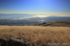 Monumental View [5_007070] (Steven Christenson) Tags: california blue sky mountains grass photo wheat sanjose fremont hills trail ebrp ebrpd kteh monumentpeak eastbayregionalparkdistrict ypoq missionpeakrange