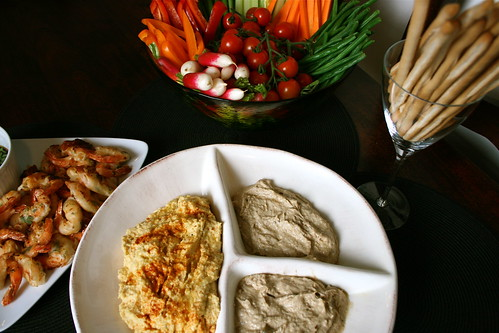 Hummus and Smoked Mackerel dips