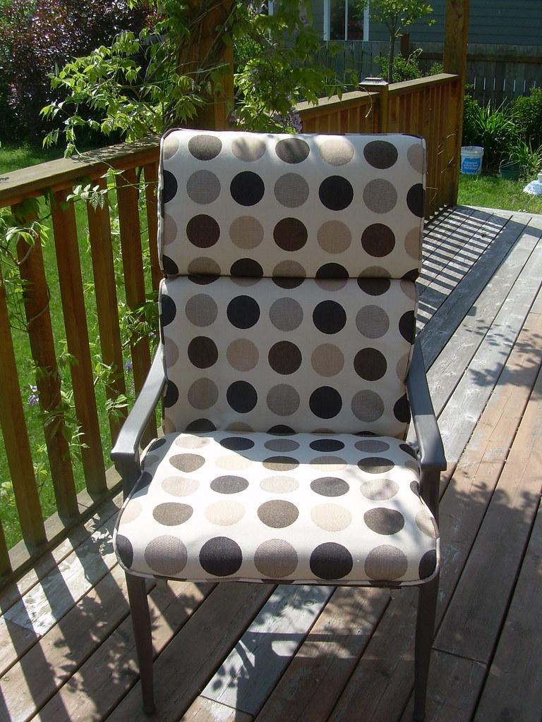 Outdoor Chair Cushion in Sunbrella Fabric