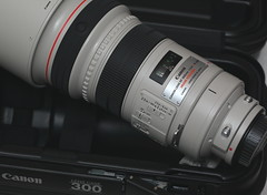 New Toy (Just George 2) Tags: canon case 300mm equipment gs supertele imagestabilized whitelens canonef100mmf28macrousm canonef300mmf28lisusm canoneos5dmarkii canon580exiispeedlite