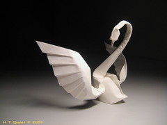 The Dance (ORI_Q) Tags: art wet paper design dance swan origami dancing explore 49 fold curve nga quyet thin giy ma gp htquyet