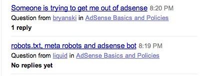 Old: Google Help Forum Redesign