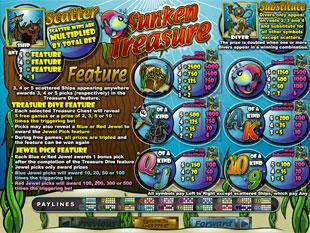 Sunken Treasure game payouts