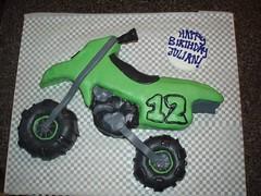 Dirt Bike (cake.box) Tags: birthday food green cake dirtbike 12 edible fondant cakebox