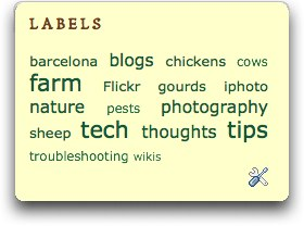 Blogger Labels Cloud