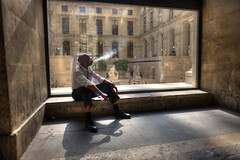 Break (briyen) Tags: paris france window europe soft mood break louvre smoking backlit hdr flickrchallengegroup flickrchallengewinner thepinnaclehof kanchenjungachallengewinner tphofweek184
