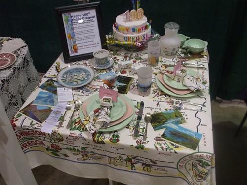 Centennial table setting