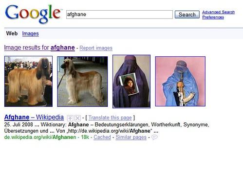 Google-Seltsamkeiten