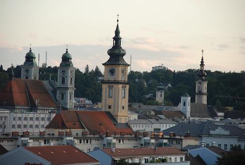 rooftops in Linz
