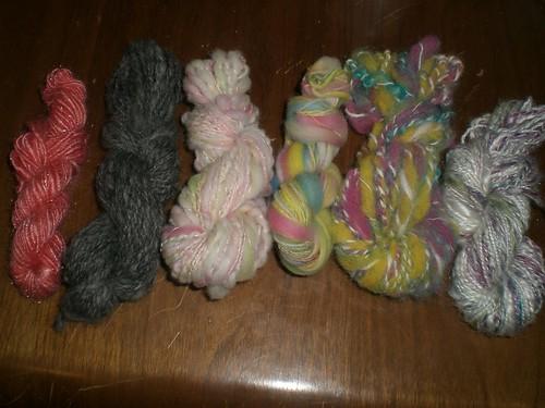 Handspun samples