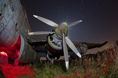Shackleton.jpg (night photographer) Tags: light abandoned graveyard night plane painting airplane stars photography long exposure decay aeroplane astronomy bomber shackleton musem astronomical propellars