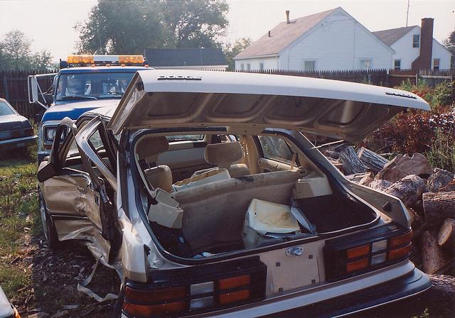 ohio 1991 caraccident totaled dodgeshadow
