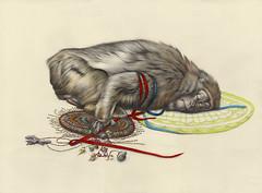 lace monkey (kirsty.whiten) Tags: saint pencil watercolor dead death monkey shrine paint drawing totem charm morbid offering ape watercolour primate voodoo kirsty kirstywhiten whiten