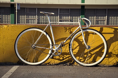kati j's bridgestone (stoplessgomore) Tags: white canada bike vancouver movie track small gear fixed trick njs therevival