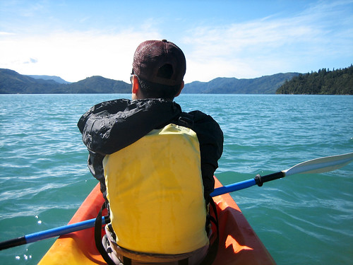 Kayaking in Kenepuru Sound