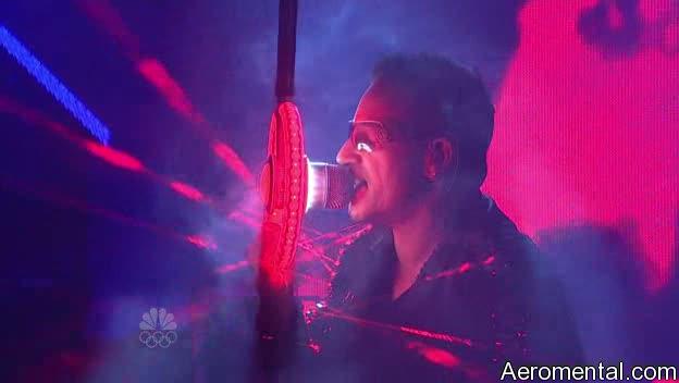U2 SNL Bono chamarra láser